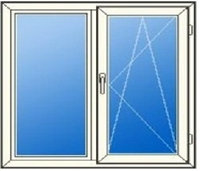 Пластиковые двустворчатые окна
