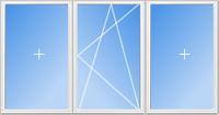 Пластиковые трехстворчатые окна